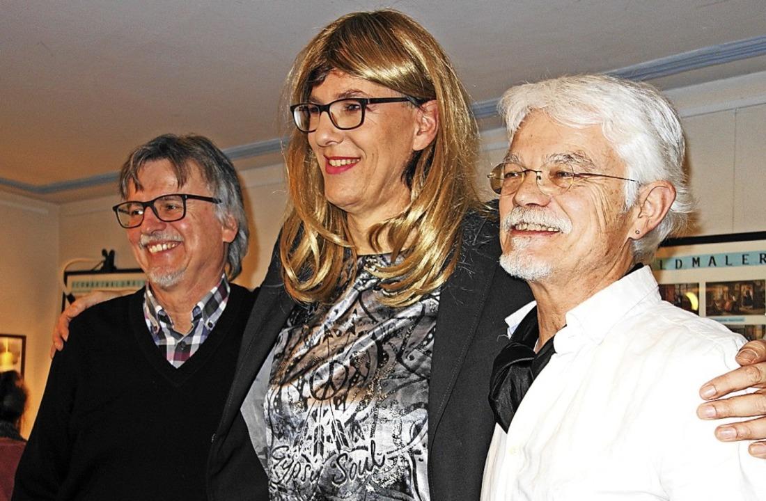 Gemeinsam in der Krone zu Gast (von li... Markus' und Markus Manfred Jung  | Foto: Gudrun Gehr