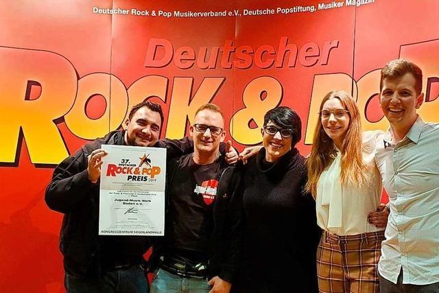 Das sagt der Vorsitzende des Jugend-Musik-Werks aus Lahr zum Gewinn des Rock- und Pop-Preises