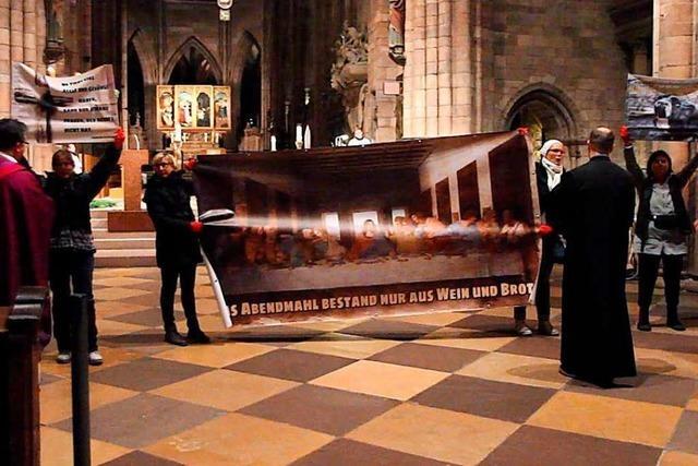 Tierschützerinnen stören Gottesdienst im Freiburger Münster