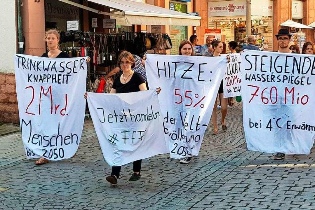 Auch in Lahr demonstrieren Fridays-for...anotstands ist eine ihrer Forderungen.    Foto: christian Kramberg