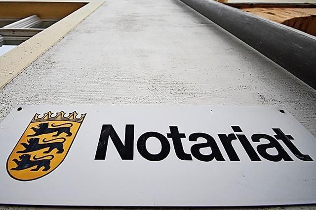 Kenzingen will das Notariat zurück