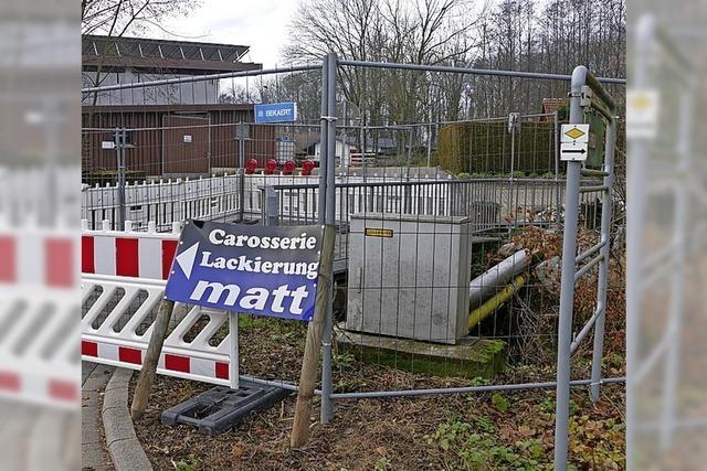 Brücke gesperrt an Jahnstraße