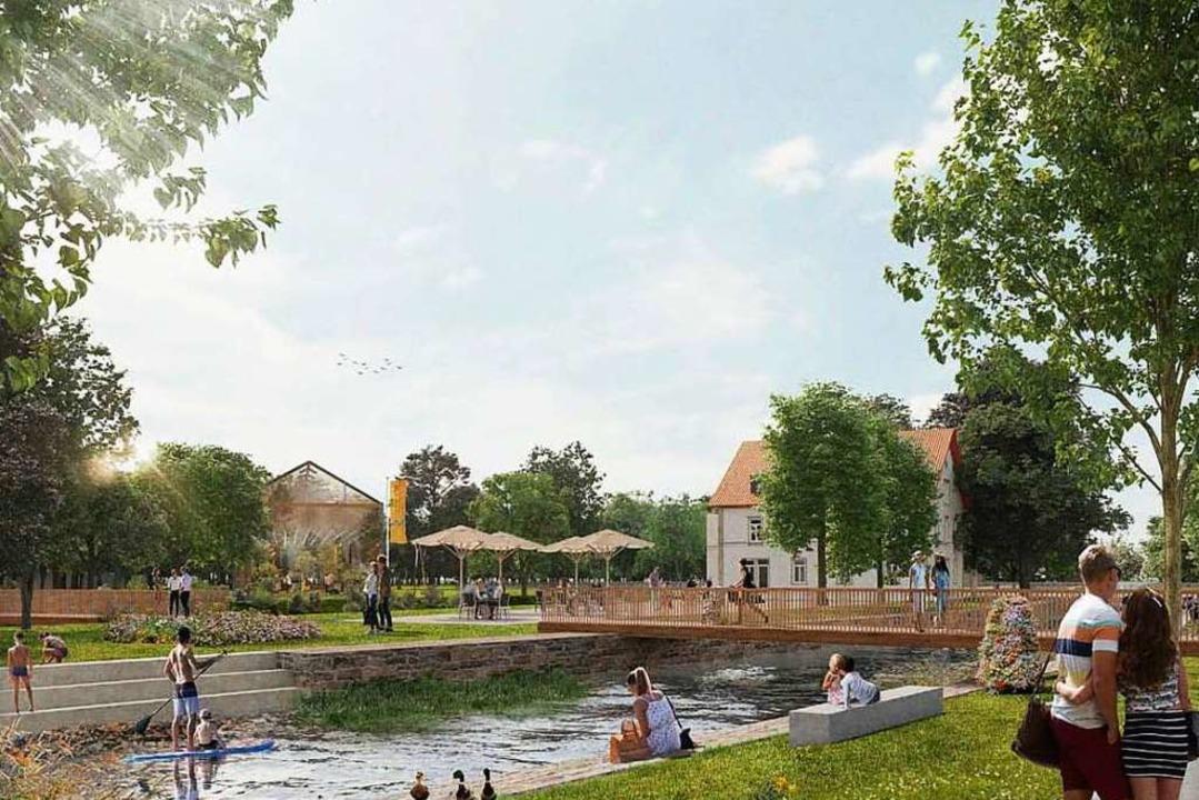 Blick auf das Stadtteil- und Familienzentrum Stegermatt auf der Räderbachinsel.  | Foto: agcroquelois