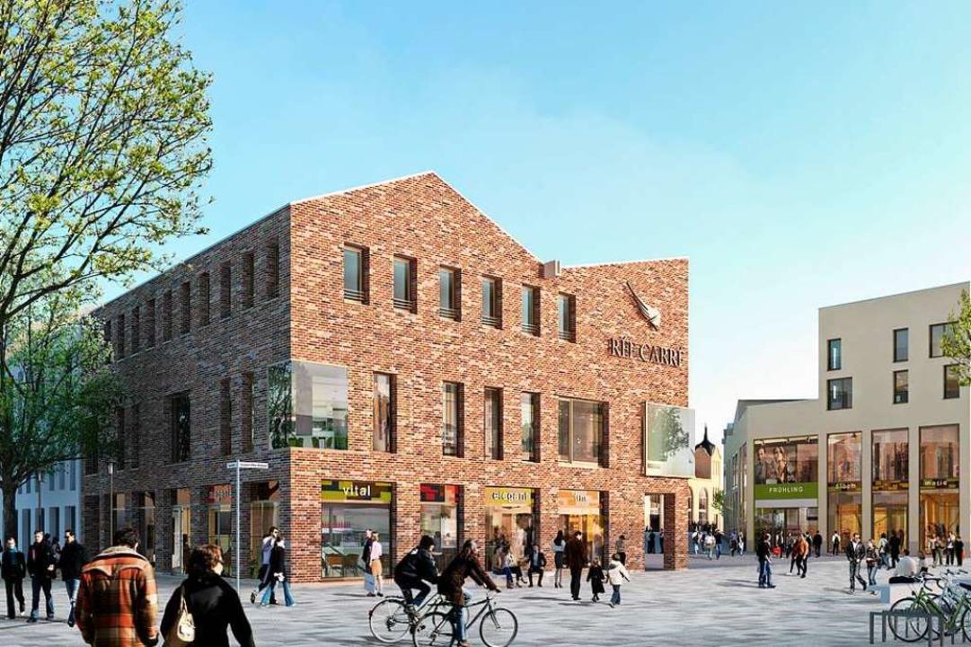 So soll das Eckgebäude des Rée-Carrés,...n das Dreher Ende 2020 einziehen will.  | Foto: Peter Tjie