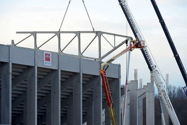 Fortschritt auf der Baustelle des neuen SC-Stadions