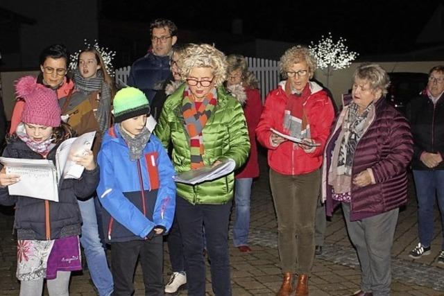 Adventsfenster in Ringsheim