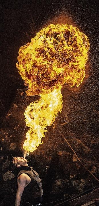 Mutig: Feuerspucker  | Foto: Moritz Huber