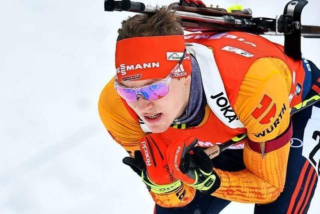 Schwarzwälder Biathlet Benedikt Doll schießt fehlerfrei und gewinnt Weltcup-Rennen