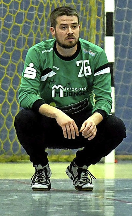 <BZ-FotoAnlauf>Handball:</BZ-FotoAnlau...Keeper Daniel Velz ist noch ungewiss.     Foto: Wolfgang Künstle