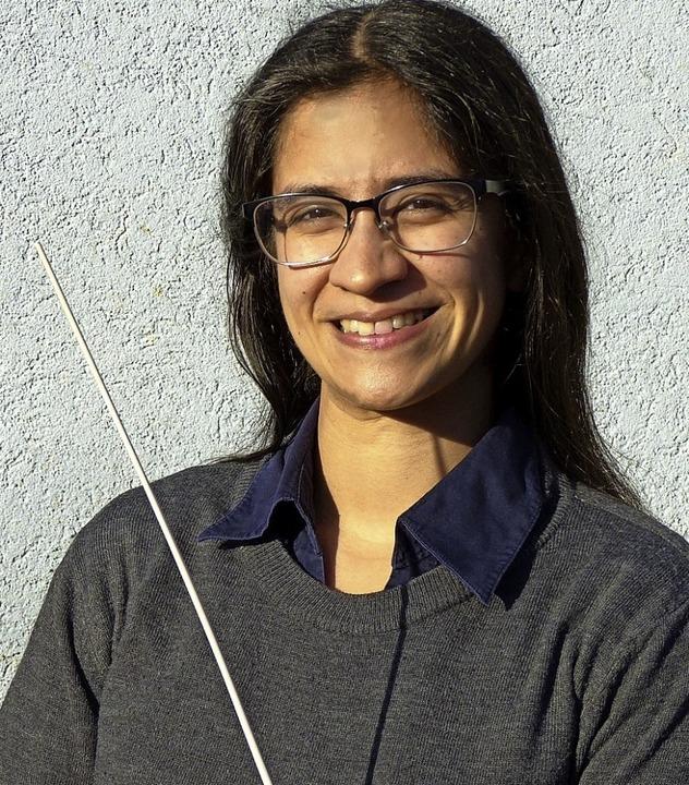Neue Dirigentin der Musik- und Feuerwehrkapelle   ist Gabriela Ortiz Würth.     Foto: Aribert Rüssel