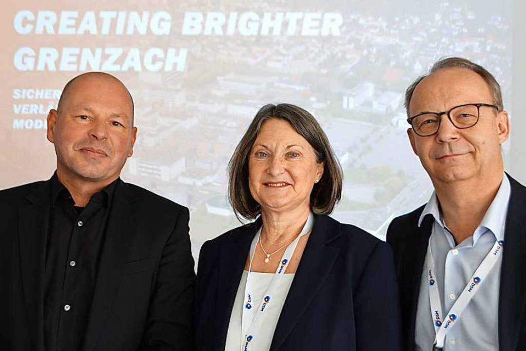 Martin Haefele (links),  Bärbel Schäfer und Christopher Goppelsroeder  | Foto: Horatio Gollin