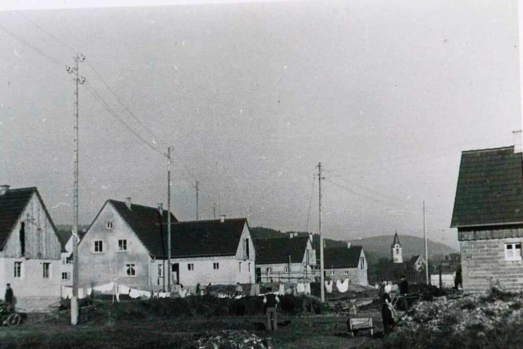 Die Neumattsiedlung im Jahr 1951  | Foto: Robert Bergmann