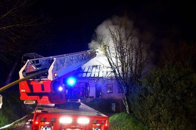 In Simonswald brennt ein Wohnhaus komplett ab