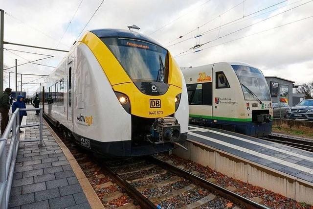 S-Bahnen zwischen Endingen und Gottenheim verkehren weiterhin nur stündlich