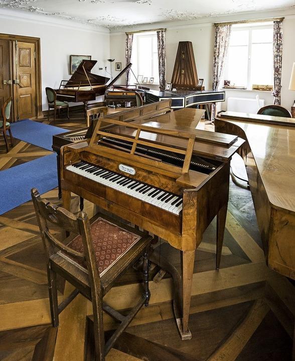 Blick in die Sammlung historischer Tasteninstrumente in Bad Krozingen  | Foto: Daniel Schoenen