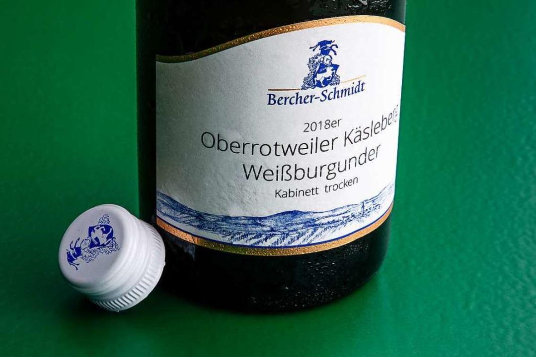 Der 2018er Käsleberg des Weinguts Berc... mit Apfel-, Birnen- und Zitrusaromen.  | Foto: Michael Wissing