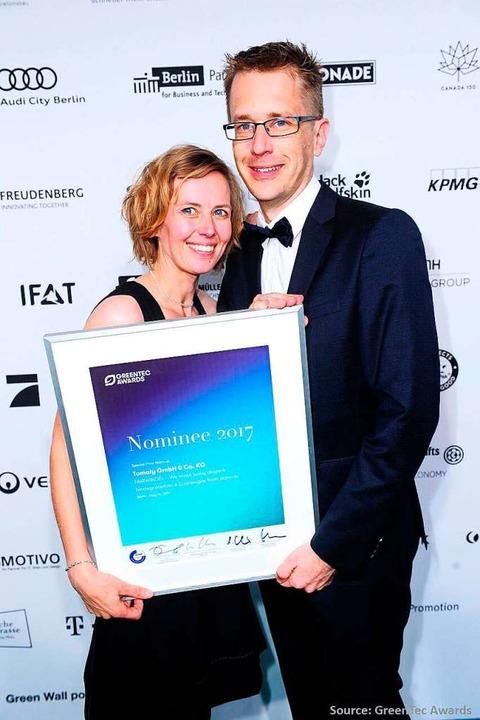 Eltern Kathrin und Dominic Frank  | Foto: GreenTec Awards