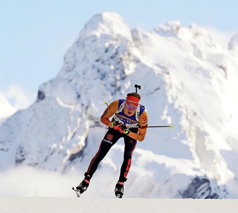 Nach seinem Sieg im Sprint am Donnerst...tag als Fünfter noch bester Deutscher.  | Foto: Alexey Filippov (dpa)