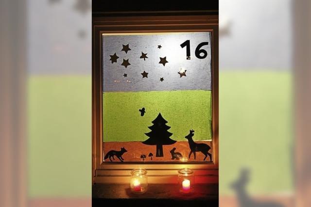 Feier am Adventsfenster