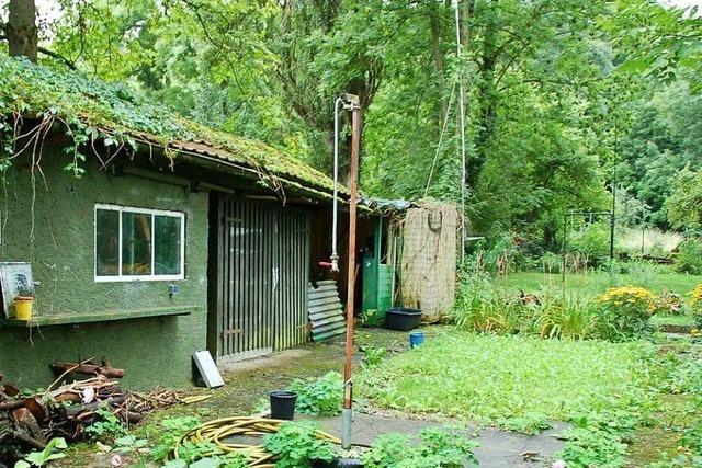 Gartenhütte in Eschbach brennt ab