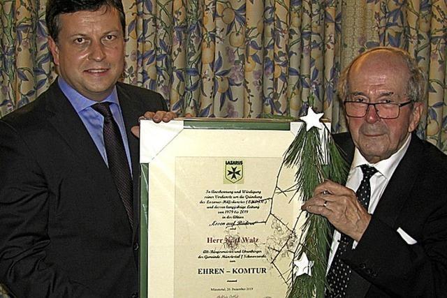 Karl Walz wurde zum Ehrenkomtur ernannt