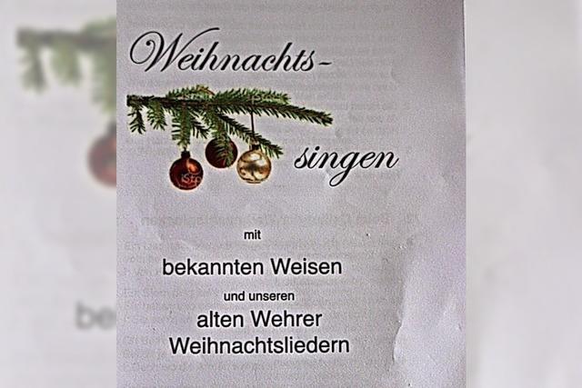 Alte Wehrer Weihnachtslieder erklingen in Sankt Martin