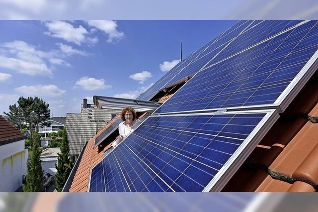Die Energie kommt vom Hausdach