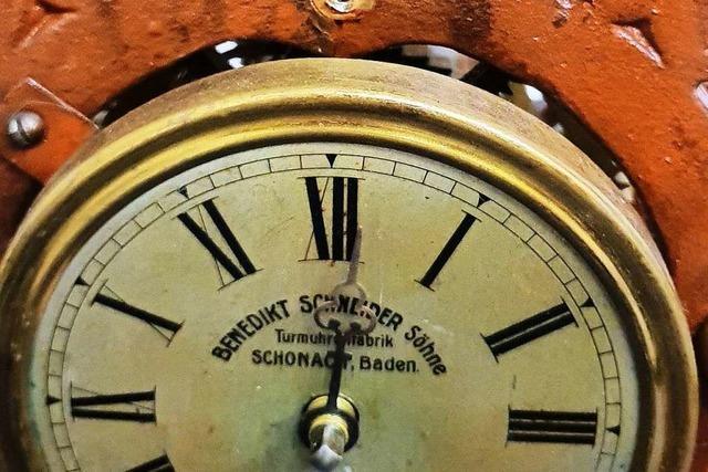 15.500 Mark kostete die Uhr, die künftig im Söldener Rathaus schlägt