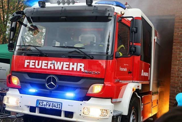 Feuerwehr hat zwei Einsätze statt stiller Nacht in Denzlingen