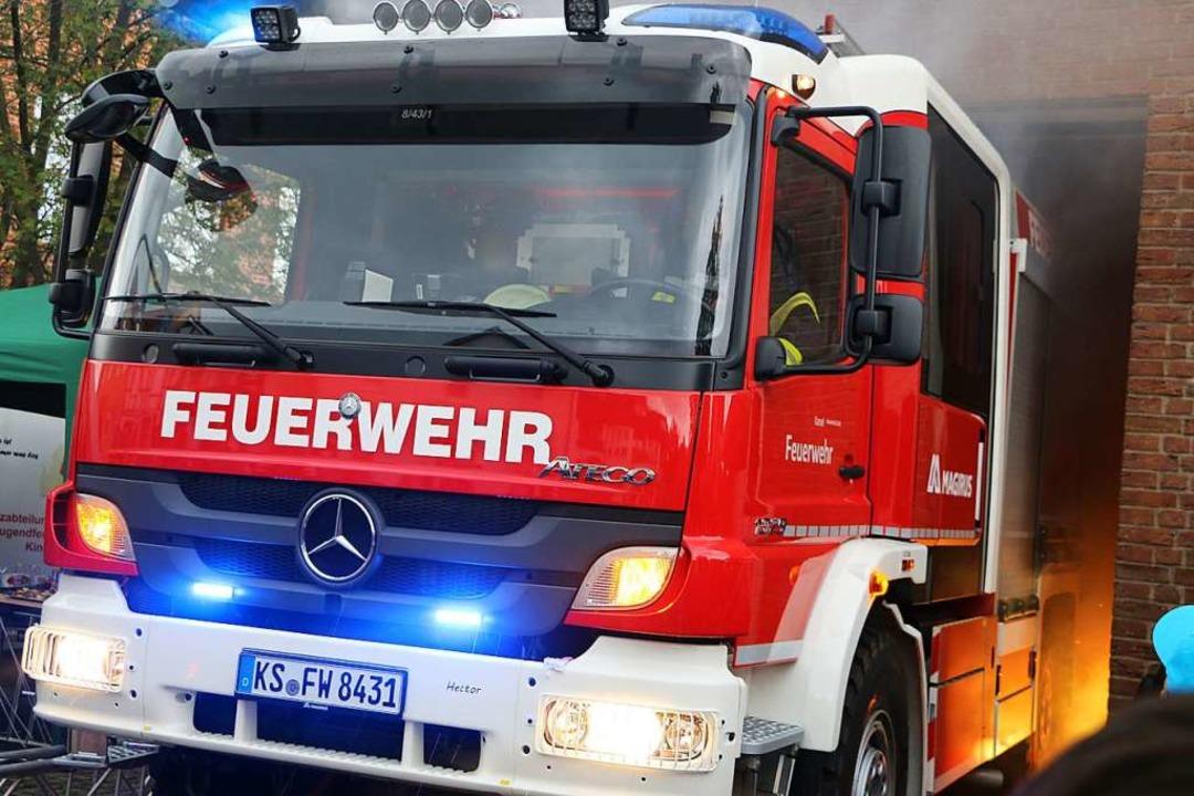 Die Feuerwehr in Denzlingen war an Heiligabend zwei Mal im Einsatz.    Foto: Ralf Krawinkel