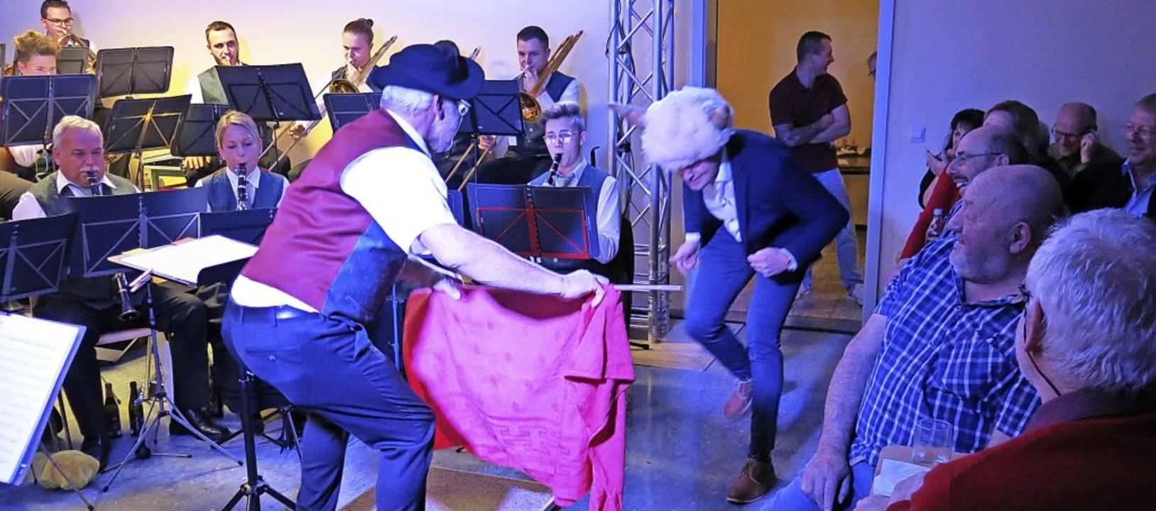 Die Show kam beim Konzert auch nicht z... Version des  Musikvereins Dillendorf.  | Foto: Erhard Morath