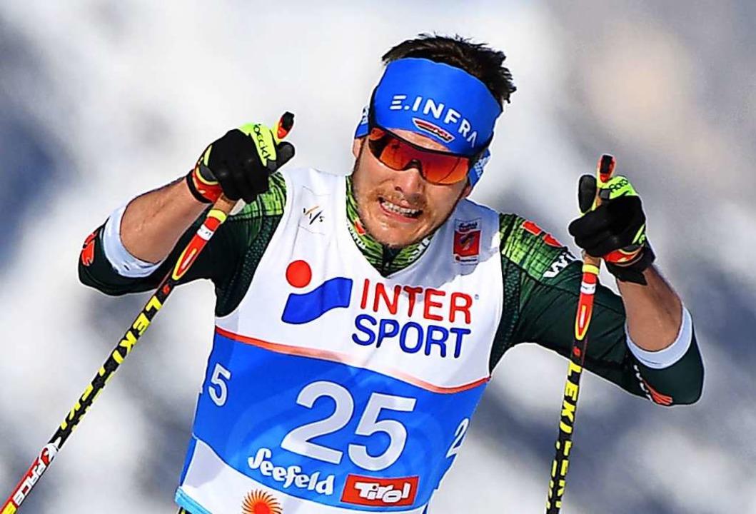 Der deutsche Skilangläufer Lucas Bögl will sich quälen.  | Foto: Hendrik Schmidt (dpa)