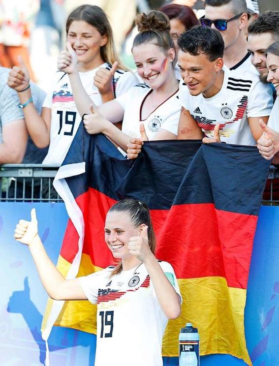 Klara Bühl nach dem Achtelfinale in Grenoble bei der WM 2019 in Frankreich  | Foto: Ding Xu (dpa)