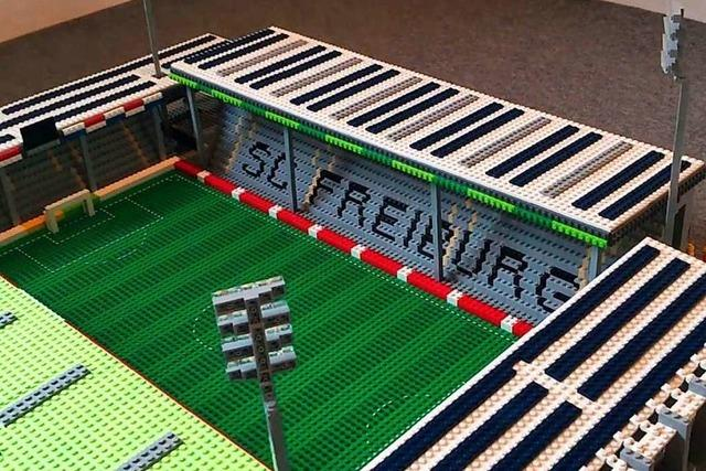 11-Jähriger baut Lego-Version des Schwarzwaldstadions