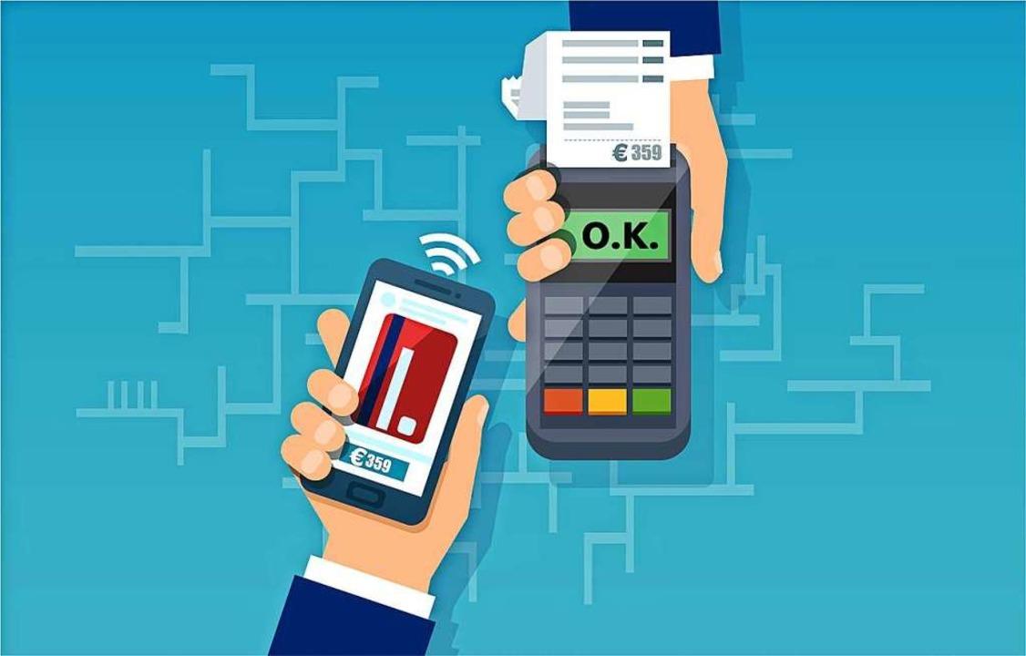 Das kontaktlose Bezahlen liegt im Trend.  | Foto: Feodora