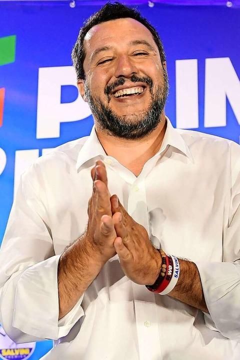 Mussolini-Fan Matteo Salvini    Foto: MIGUEL MEDINA (AFP)