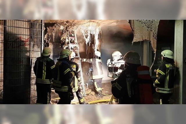 Am Gymnasium brannte es nachts, aber es war nur im Außenbereich