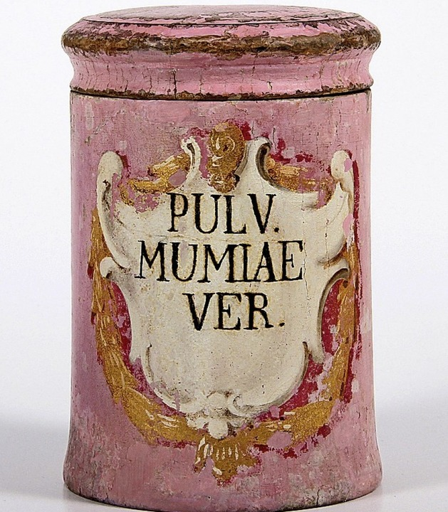 Mumienpulver wurde im 18. Jahrhundert angewandt als Allheilmittel  | Foto: Dt. Apotheken Museum-Stiftung, Heidelberg