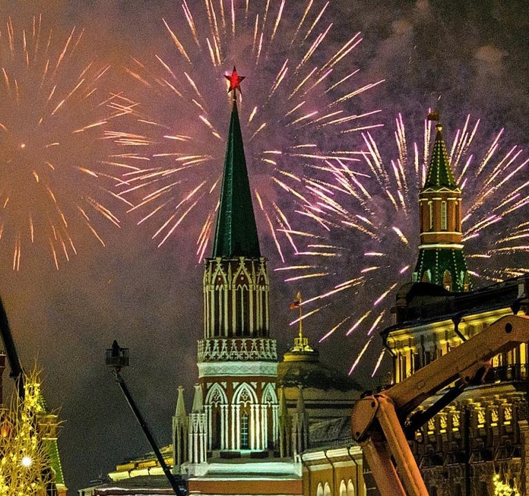 Alle Jahre wieder: Feuerwerk in Moskau  | Foto: MLADEN ANTONOV