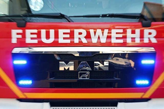 Brennholzstapel in Flammen bedroht Wohnhaus