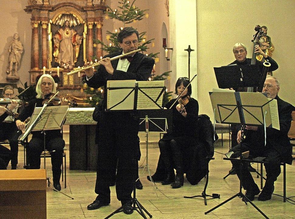 Mit einem facettenreichen Barockprogra...ola in der Pfarrkirche in Strittmatt.     Foto: Karin Stöckl-Steinebrunner