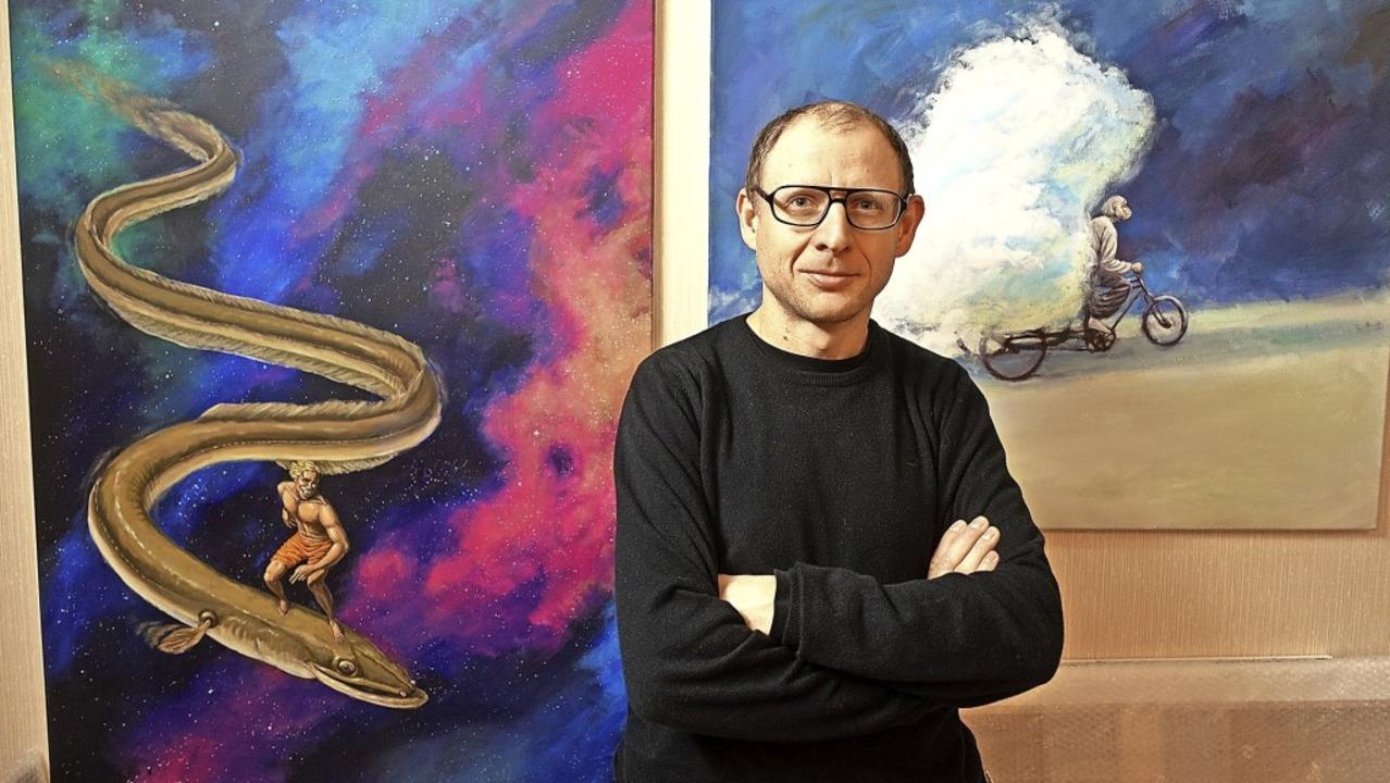 Der Maler Eduard Kasper, der seit fünf...nisvolle und vieldeutige Geschichten.     Foto: Roswitha Frey