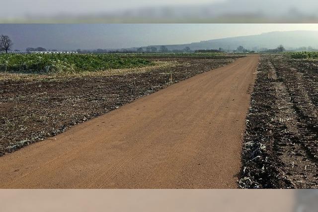 Feldwege wurden wiederhergestellt