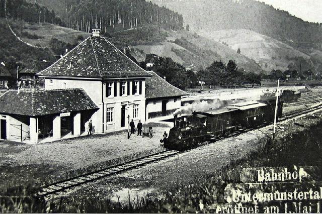 Ins Tal ging es auf der Schiene erst ab 1916