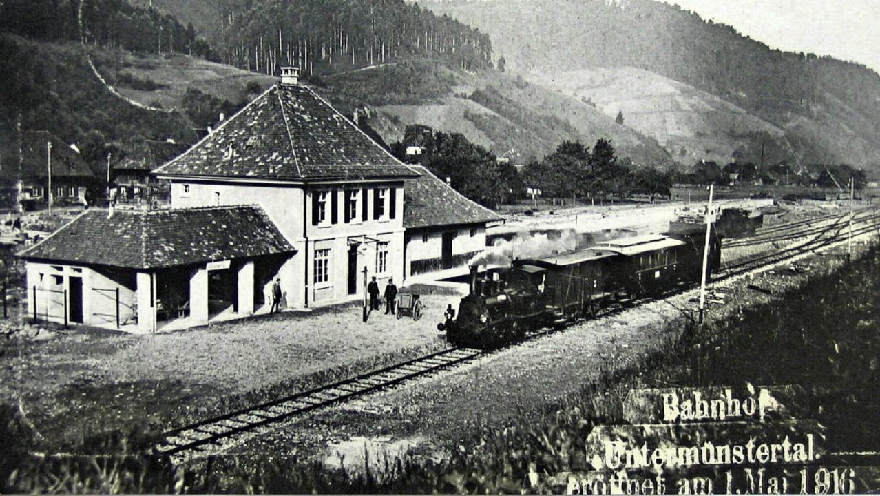 Keine Musiker, keine Ehrengäste für da.... Mai 1916 im Bahnhof  Untermünstertal    Foto: MANFRED LANGE