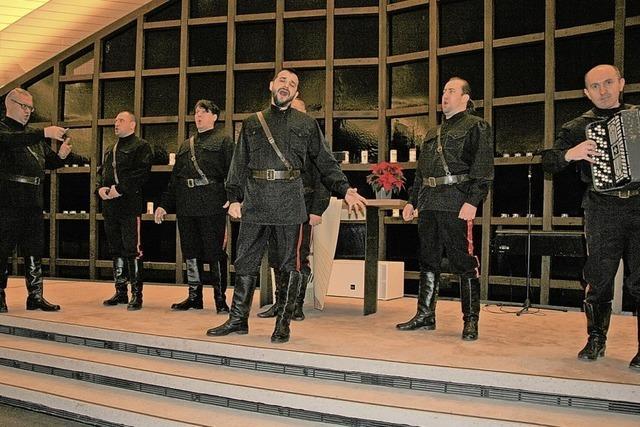 Klangvoller Chorgesang aus Russland