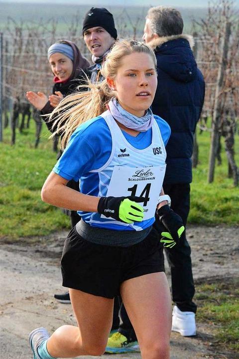 Annika Autenrieth vom USC Freiburg gew...esamtwertung des Markgräfler Laufcups.  | Foto: Karl-Hermann Murst