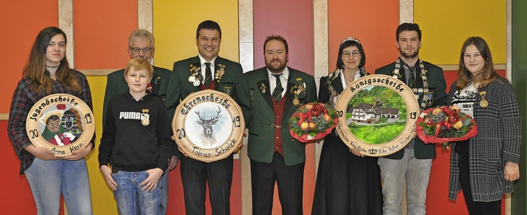 Königsschießen Biederbach: Das sind di...phie Gehring (von links nach rechts).   | Foto: Picasa