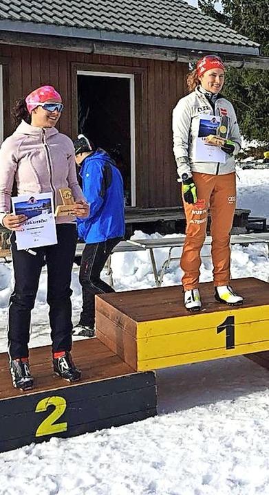 Janina Hettich siegte bei den Frauen vor Sabrina Braun.   | Foto: Disch