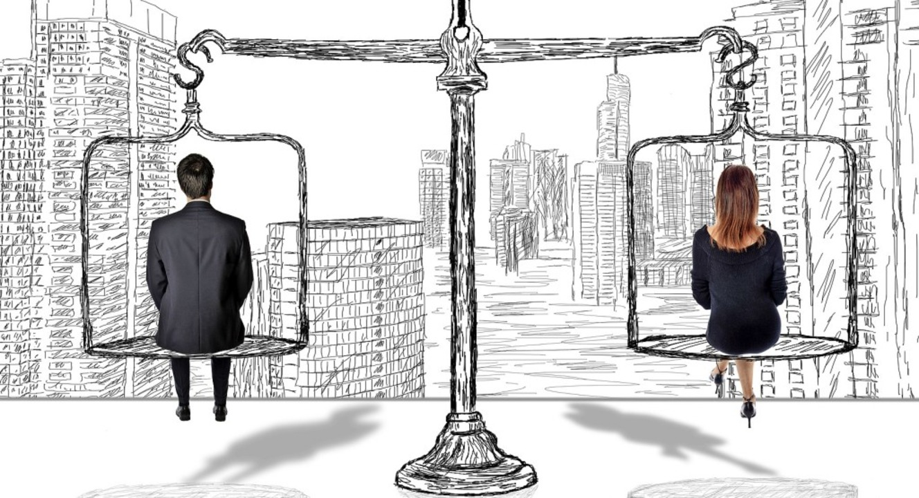 Auf gleicher Höhe – zumindest in der Politik ist das noch nicht erreicht.    Foto: thodonal - stock.adobe.com